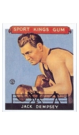 REPRINT 1933 Sport Kings #17 Jack Dempsey REPRINT