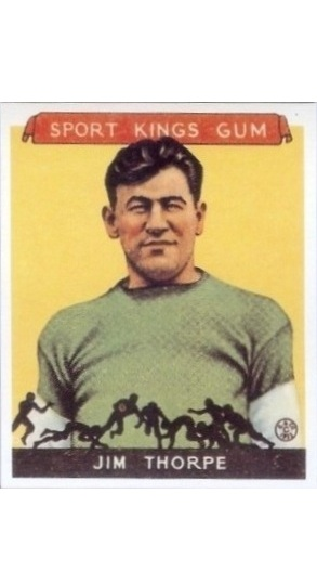 REPRINT 1933 Sport Kings #6 Jim Thorpe Football REPRINT