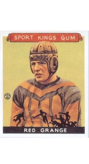 REPRINT 1933 Sport Kings #4 Red Grange Football REPRINT