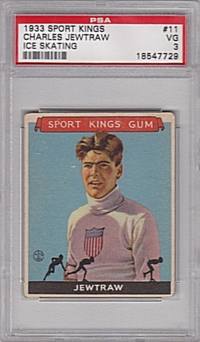 1933 Sport Kings #11 Charles Jewtraw Skating PSA 3
