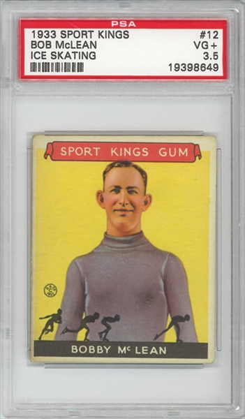 1933 Sport Kings #12 Bobby McLean Skating PSA 3.5
