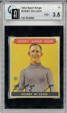 1933 Sport Kings #12 Bobby McLean Skating GAI 3.5  VG+