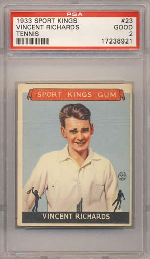 1933 Sport Kings #23 Vincent Richards Tennis PSA 2