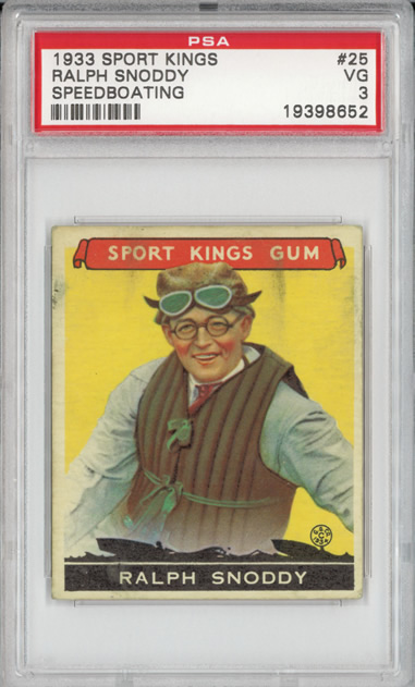 1933 Sport Kings #25 Ralph Snoddy Boating PSA 3