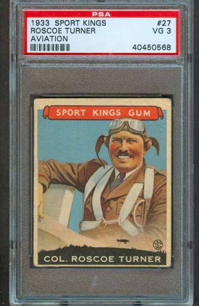 1933 Sport Kings #27 Roscoe Turner Aviation PSA 3