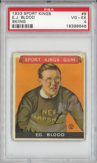 1933 Sport Kings #9 Ed Blood PSA 4