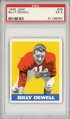 1948 Leaf Billy Dewell Chicago Cardinals PSA 5
