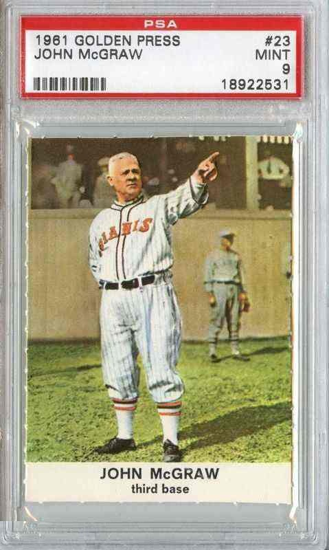 1961 Golden Press #23 John McGraw Orioles Giants PSA 9