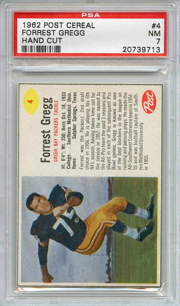 1962 Post Cereal #4 Forrest Gregg Green Bay Packers NM PSA 7