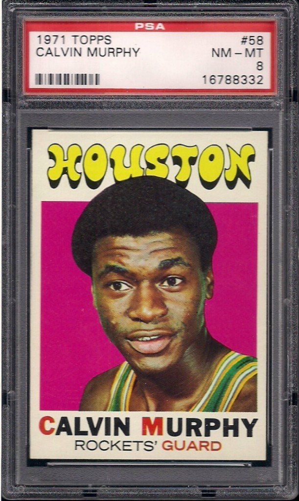 1971 Topps #58 Calvin Murphy Houston Rockets PSA 8