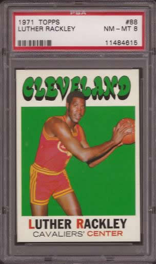 1971 Topps #88 Luther Rackley Cleveland Cavaliers PSA 8
