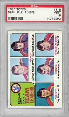 1975 Topps #319 Kansas City Scouts Leaders PSA 9