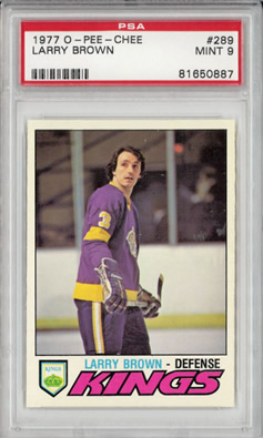 1977 O-Pee-Chee OPC #289 Larry Brown Los Angeles Kings PSA 9