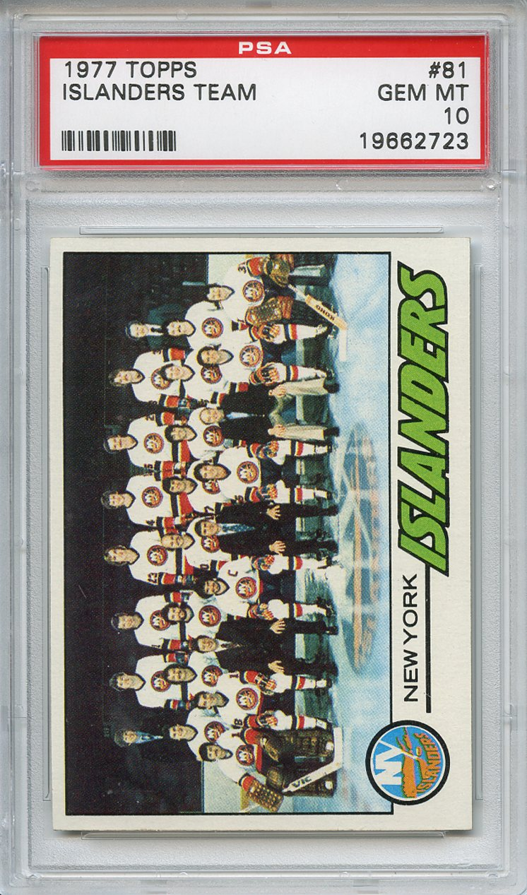 1977 Topps #81 New York Islanders Team PSA 10