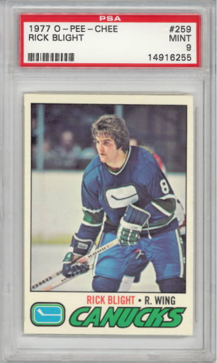 1977 O-Pee-Chee #259 Rick Blight Set Break PSA 9