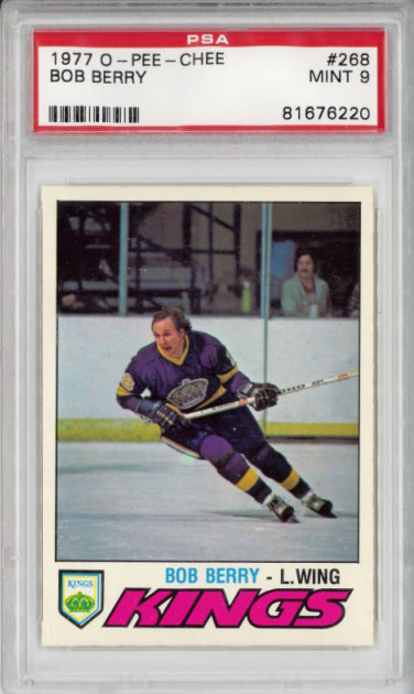 1977 O-Pee-Chee #268 Bob Berry Los Angeles Kings PSA 9