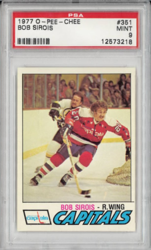 1977 O-Pee-Chee #351 Bob Sirois Washington Capitals Set Break PS