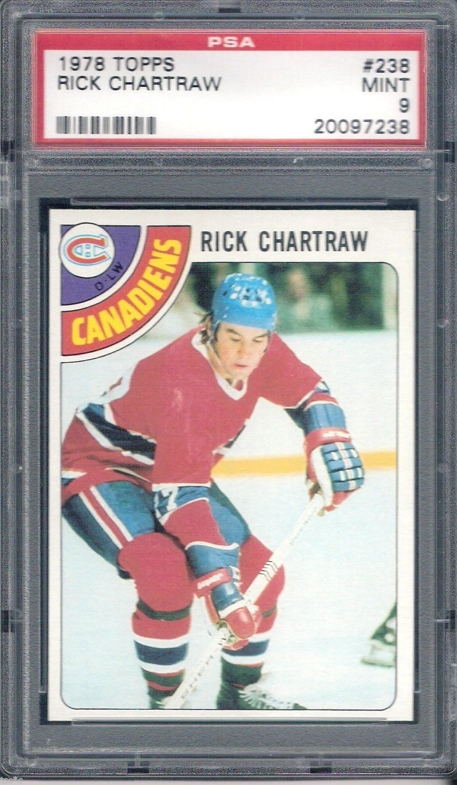 1978 Topps #238 Rick Chartraw Montreal Canadiens PSA 9