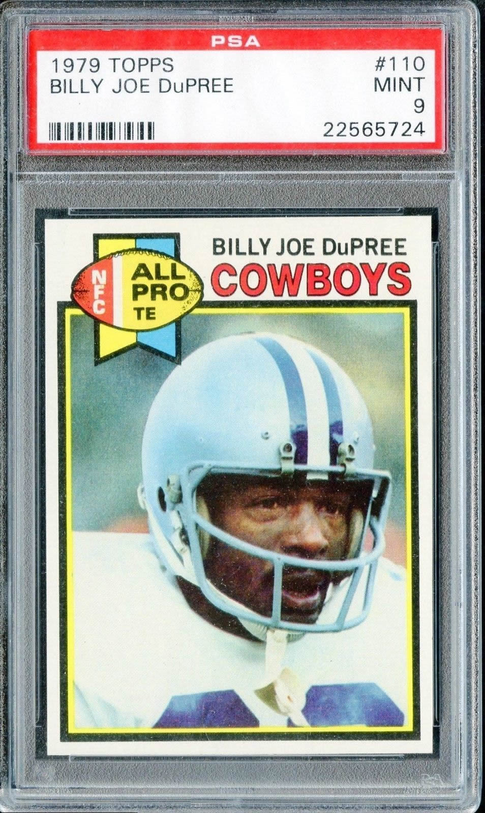 1979 Topps Football #311 Billy Joe Dupree Dallas Cowboys PSA 9