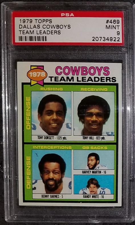 1979 Topps #469 Dallas Cowboys Team Leaders Tony Dorsett Randy W