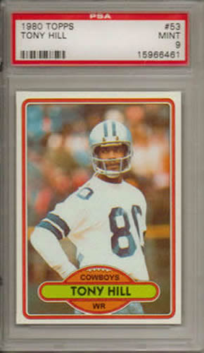 1980 Topps #53 Tony Hill Dallas Cowboys PSA 9
