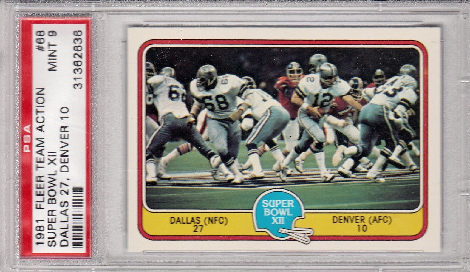 1981 Fleer Team Action #68 Tony Dorsett Roger Staubach Dallas Co