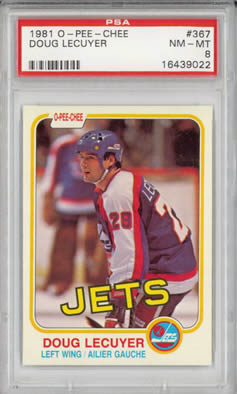 1981 O-PEE-CHEE #367 Doug Lecuyer Winnipeg Jets  PSA 8