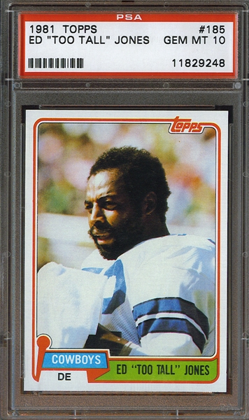 1981 Topps #185 Ed Too Tall Jones Dallas Cowboys PSA 10