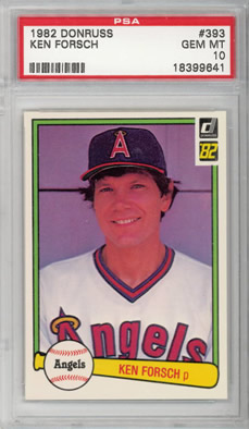 1982 Donruss #393 Ken Forsch Los Angeles Angels PSA 10
