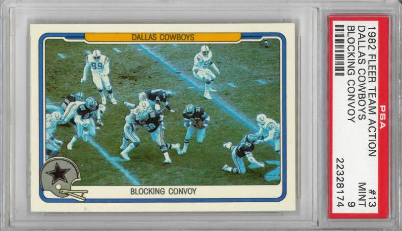 1982 Fleer Team Action #13 Tony Dorsett Dallas Cowboys Blocking