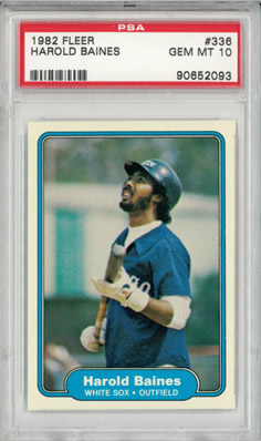 1982 Fleer #336 Harold Baines Chicago White Sox  PSA 10