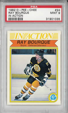 1982 O-Pee-Chee #24 Ray Bourque IA Boston Bruins PSA 9