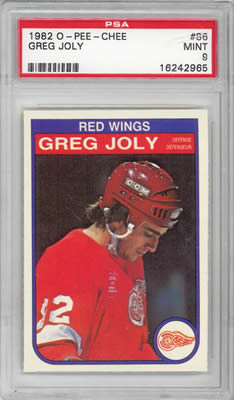 1982 O-Pee-Chee #86 Greg Joly Detroit Red Wings PSA 9