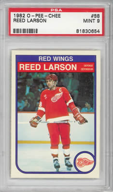 1982 O-Pee-Chee #88 Reed Larson Detroit Red Wings PSA 9