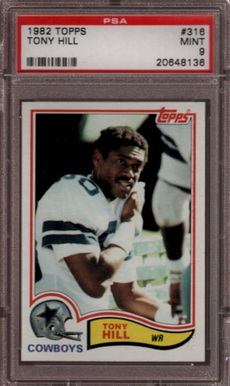 1982 Topps #316 Tony Hill Dallas Cowboys PSA 9