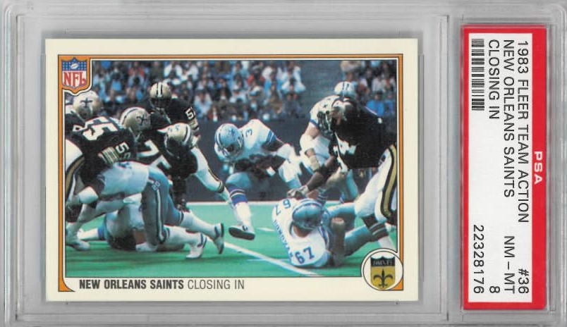 1983 Fleer Team Action #36 TONY DORSETT Cowboys Saints PSA 8