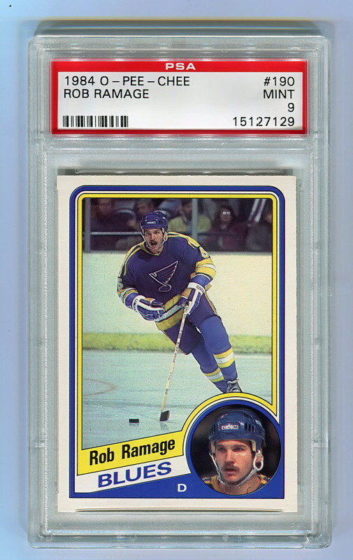 1984 O-Pee-Chee #190 ROB RAMAGE St. Louis Blues PSA 9
