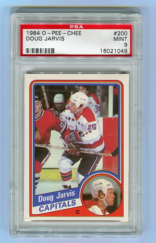 1984 O-Pee-Chee #200 DOUG JARVIS Washington Capitals PSA 9