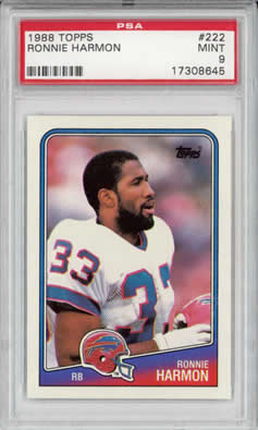 1988 Topps #222 Ronnie Harmon  Buffalo Bills PSA 9