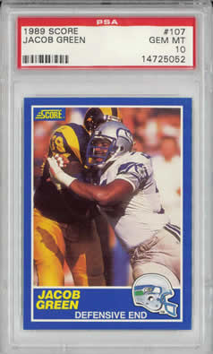 1989 Score #107 Jacub Green Seattle Seahawks PSA 10