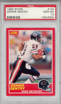 1989 Score #153 Dennis Gentry Chicago Bears PSA 10