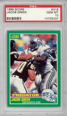 1989 Score #318 Jacub Green Seattle Seahawks PSA 10