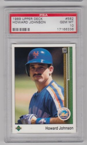 1989 Upper Deck #582 Howard Johnson New York Mets PSA 10