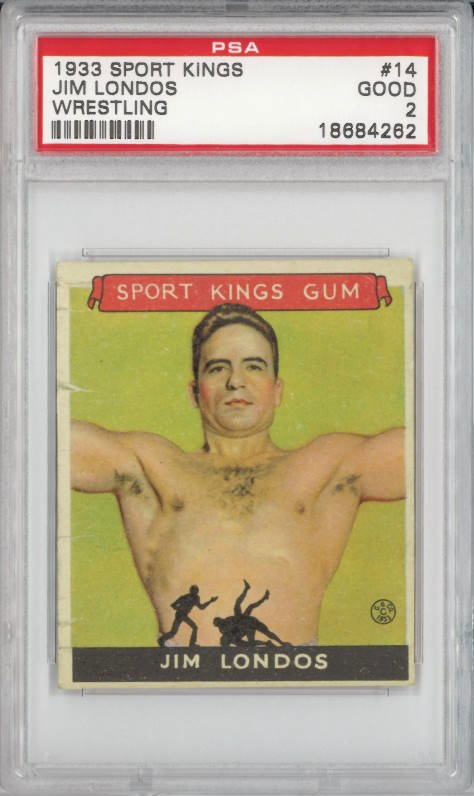 1933 Sport Kings #14 Jim Londos Wrestling PSA 2