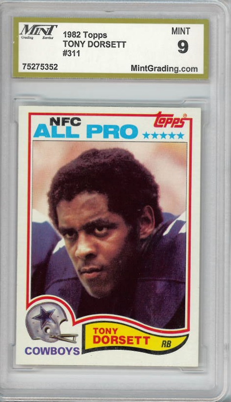 1982 Topps #311 Tony Dorsett Dallas Cowboys Mint 9