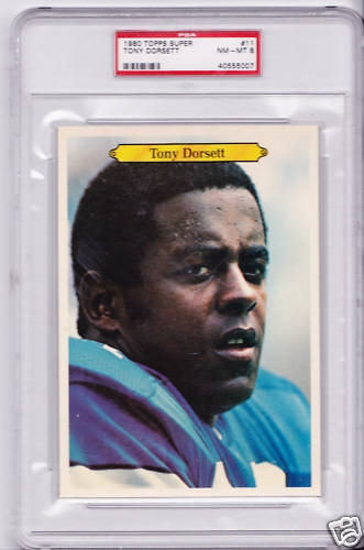 1980 Topps Super #11 Tony Dorsett Dallas Cowboys  PSA 8